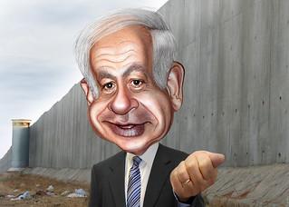 Benjamin Netanyahu - Caricature