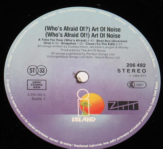 Whos Afraid Of The Art Of Noise Beat Box Vinyl Records