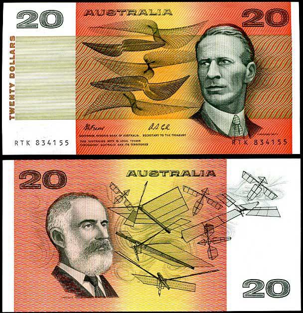 20 Dolárov Austrália 1974-94, Pick 46