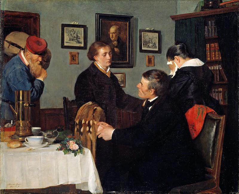 Harriet Backer - The Farewell (1878)