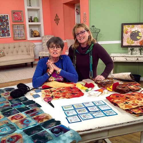 on the set of Quilting Arts TV