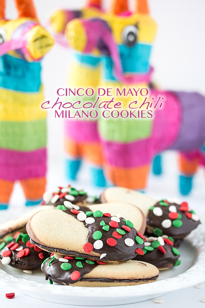 Celebrate Cinco de Mayo with these quick and easy Chocolate Chili Milano Cookies!