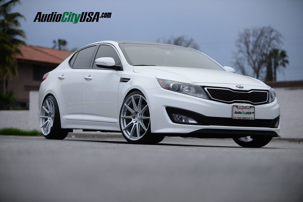 2014 kia optima 20 niche essen m146 silver h r springs staggered wheels. Black Bedroom Furniture Sets. Home Design Ideas