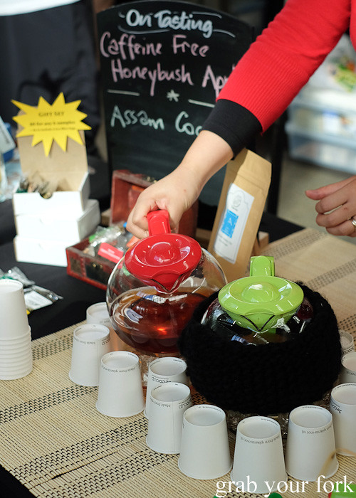 Organic tea by Tea Horse Road at Le Marche Francais at City Market, Wellington