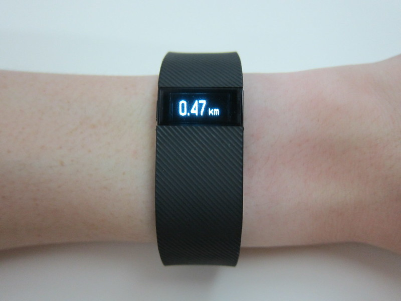 Fitbit Charge - Wearing - Distance Walked