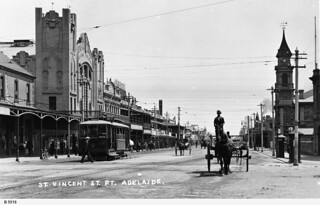 St. Vincent Street, Port Adelaide. - Photograph courtesy of the State Library of South Australia
