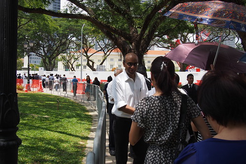 Mourners queue to pay last respects to Lee Kuan Yew, lying in state at Parliament House, Singapore