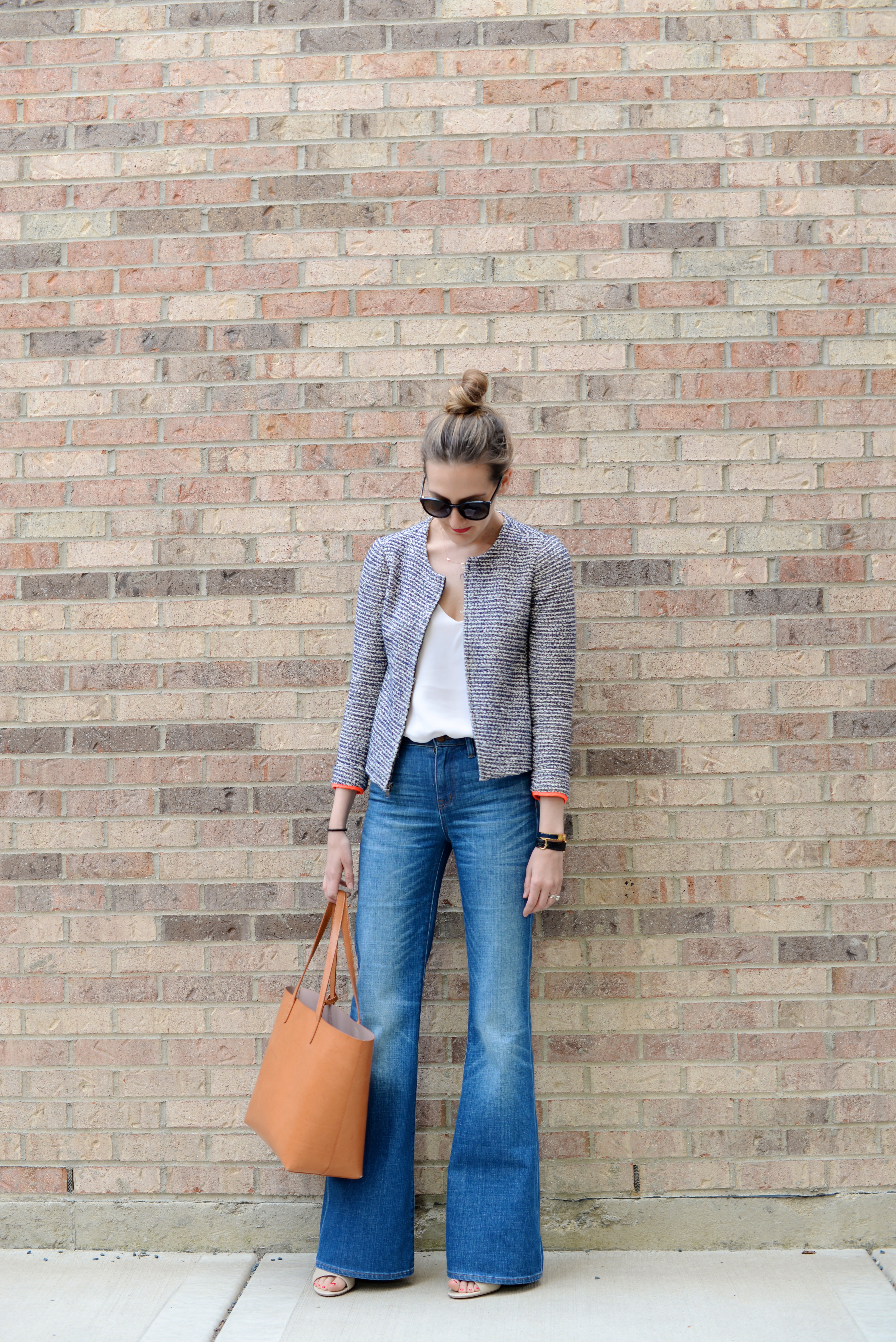 madewell flares outfit