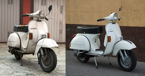 Restoration of a 1980 Vespa P125X