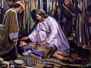 Jesus healing the sick