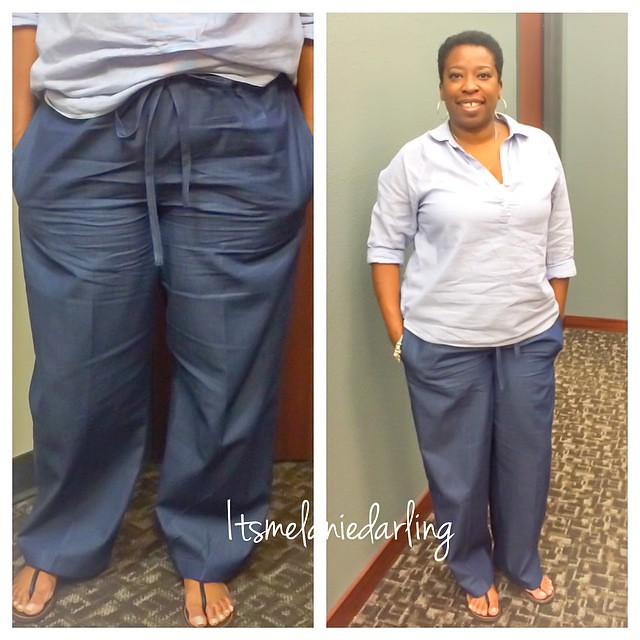 Friday Casual in my relax fit Denim pants with side and back pockets! NewLook 6351!  Love them, so comfy. Details on the blog, blog address in profile #Itsmelaniedarling #sewologist #seamstress #sewing #sewist #sewcialist #sewingblogger #asewinglife #