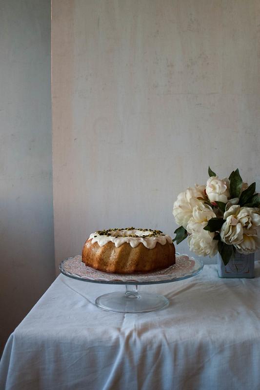Bund cake de vainilla y pistachos