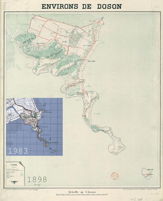 Bản đồ ĐỒ SƠN 1898-1983 - ENVIRONS DE DOSON