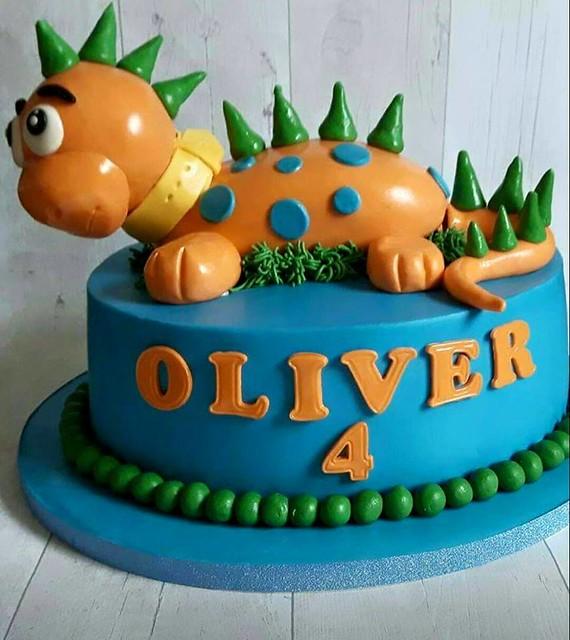 My Foot Long Dinosaur Cake by Donna Johnson