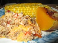 Spanish Rice, Butternut Squash And Corn On The Cob…