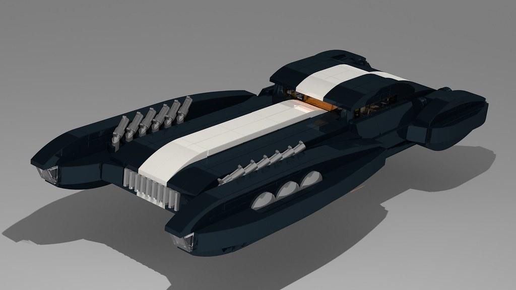 Shade Hovercar Blender render