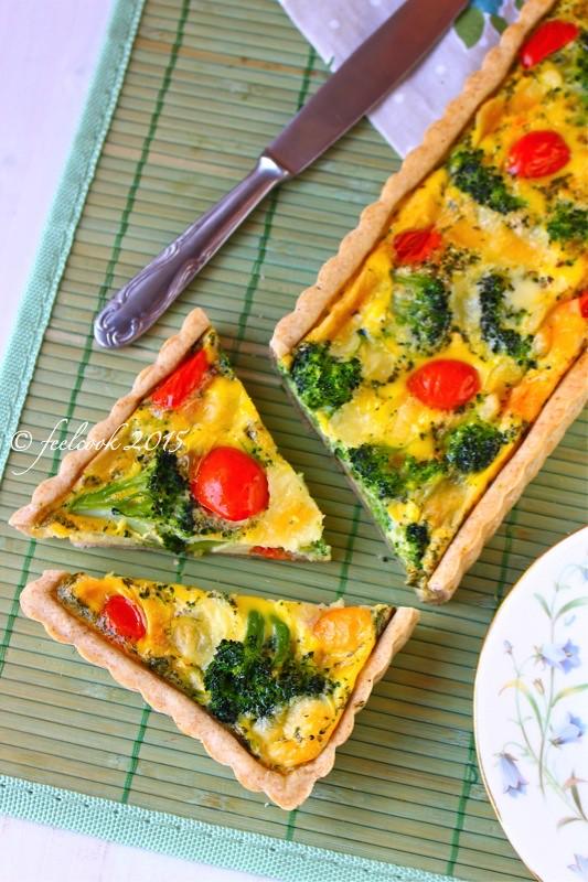 Torta salata broccoli e provola silana