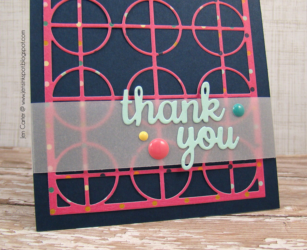 Jen Carter Frantic Stamper Circle Thank You Closeup