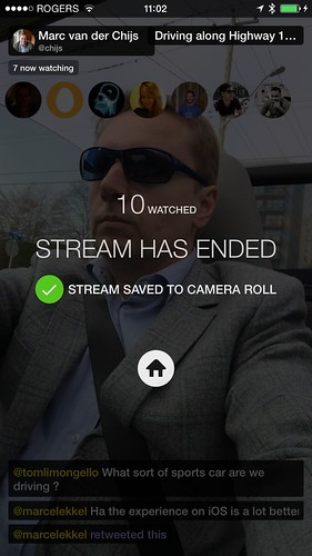 My first Meerkat stream had 10 users!