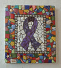 Mosaic Awareness Ribbon Plaque Grouted