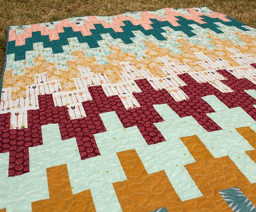 New Quilt Patterns For 2015 : Quilts by Emily: Aztec Chevron Quilt + {new pattern}
