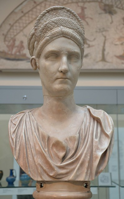 Portrait bust of Salonina Matidia (mother-in-law of Hadrian and niece of Trajan), British Museum