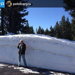 A crater lake shot by Pete. #Repost @petebanjos with @repostapp.・・・@leethalknits in mid-shoot. There was still a bit of snow as you can see ...