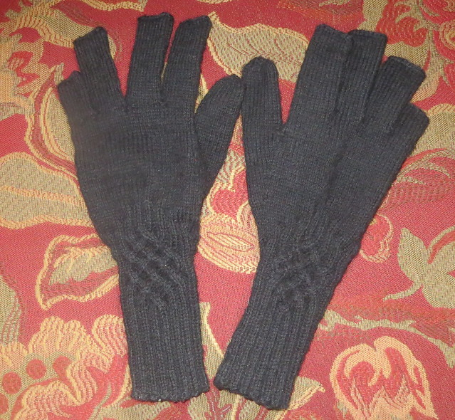 gloves my daughter made for me