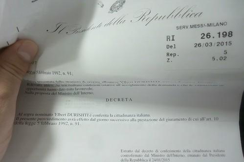 Il Presidente della Repubblica, #decreta! by Ylbert Durishti