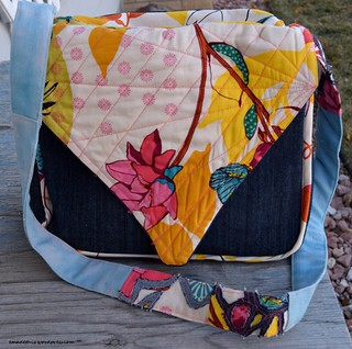 quilted flap