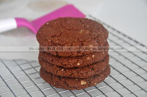 Cookies de chocolate e aveia da Bibi