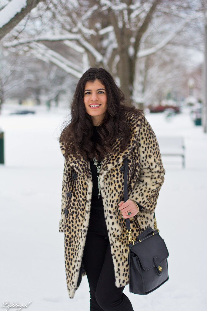 spring snow, leopard coat, black sweater-2.jpg