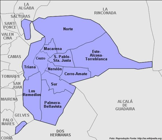 mapa sevilha