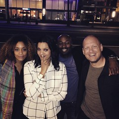 Friends new and old! #latergram from a night out in LA with @lorenlillian, Sarah Hoye and @anslem1.