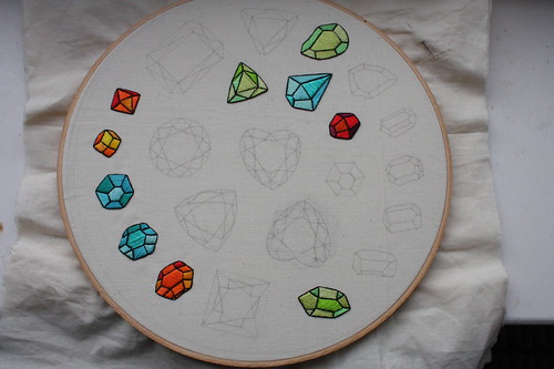 wip. hand embroidery