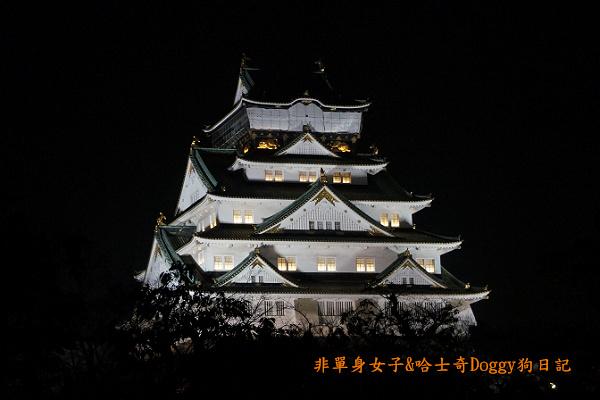 日本大阪城公園梅林城天守閣3D光之陣23