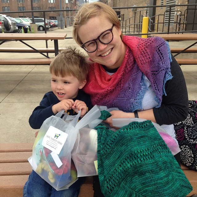 Both of had stash enhancement at #yarncon. G went a little crazy @sunvalleyfibers. #graysongram
