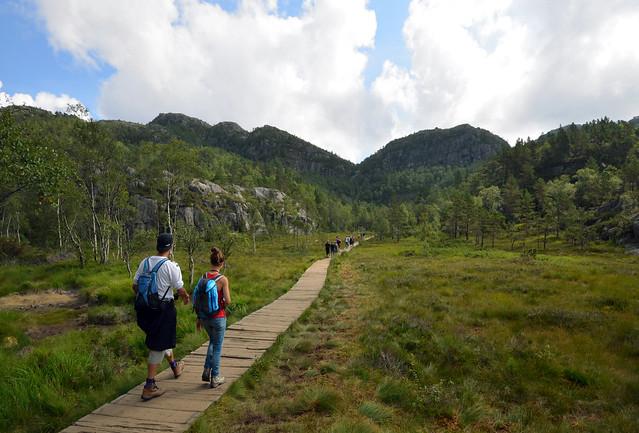 Krogebekkmyrane una de las zonas más bonitas que encontramos camino del Preikestolen
