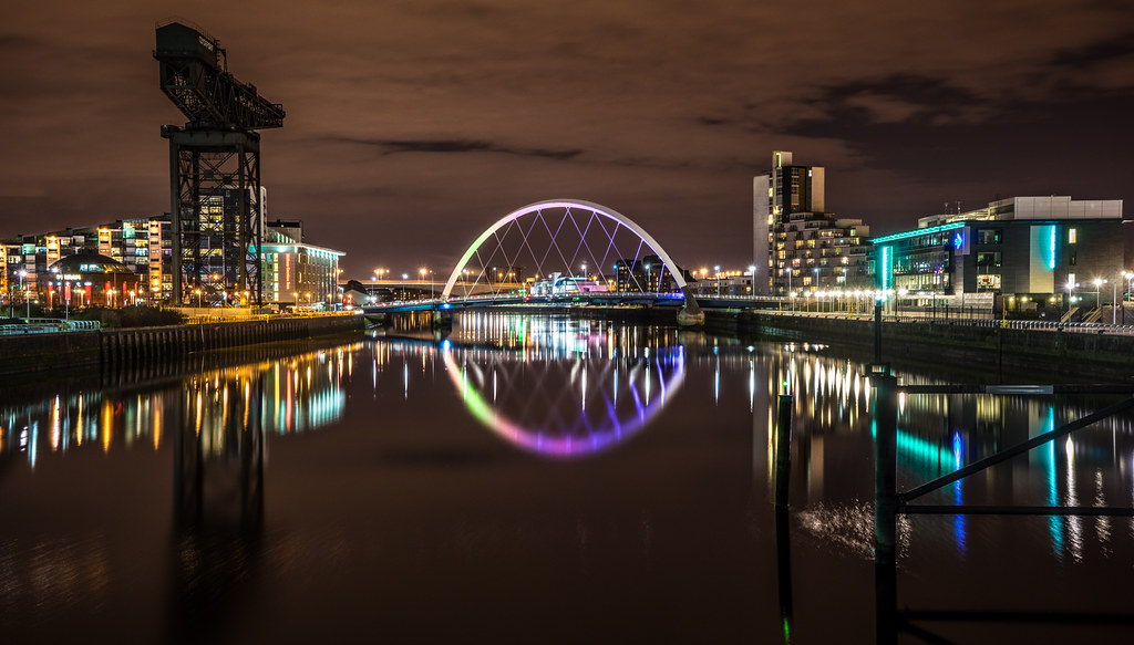 Clyde arch, Glasgow, Scotland picture