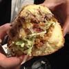 Bacon Mac-N-Cheese Burger - Close Up