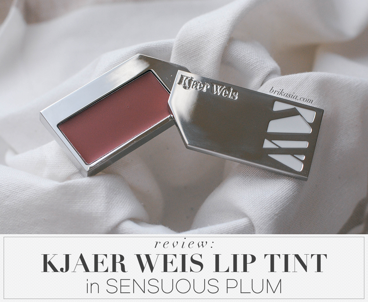kjaer weis lip tint, sensuous plum, review, swatch, green beauty, nontoxic beauty, non toxic lip product