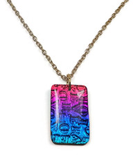 """Forever"" Faux Dichroic pendant polymer clay"