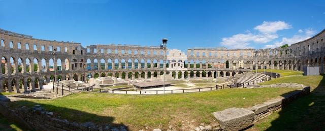 Pula Amphitheater Panorama