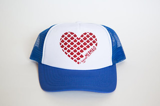 blue heart hat