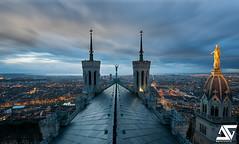 Lyon from Fourvière @ Blue Hour