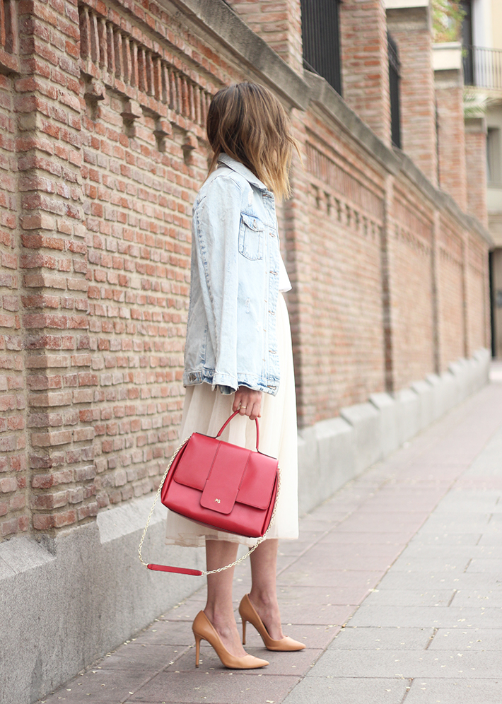 Tulle Skirt Denim Jacket11