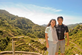 Janna and Nikko in Front of Banaue Rice Terraces
