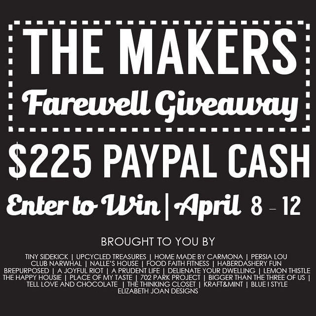 The Makers Farewell Giveaway Square