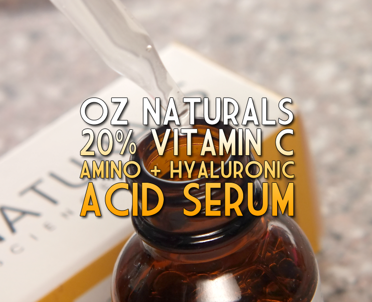 oz naturals 20% VITAMIN C + AMINO + HYALURONIC ACID SERUM (5)