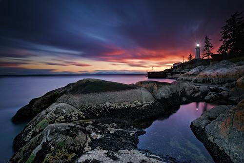 Sunset at Lighthouse Park.  Fine Art Photography by Daniel Burdett